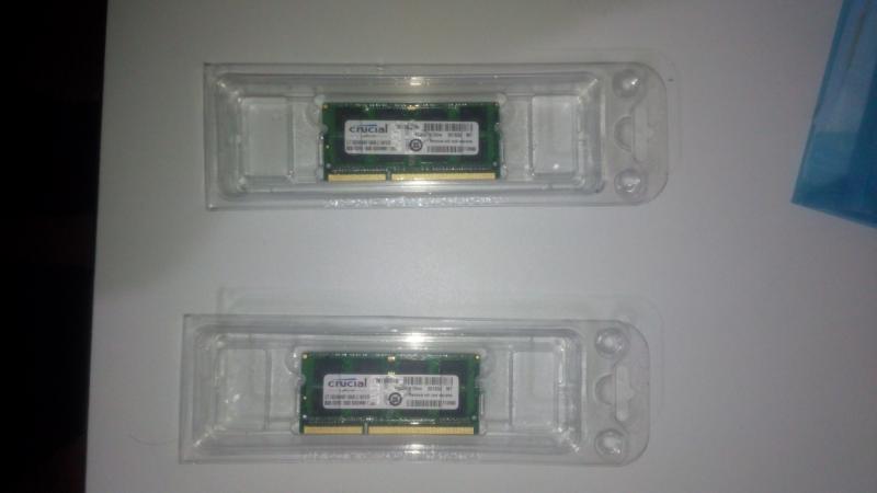 ขาย RAM Crucial 16GB (8*2) DDR3L-1600 SODIMM สำหรับ macbook pro