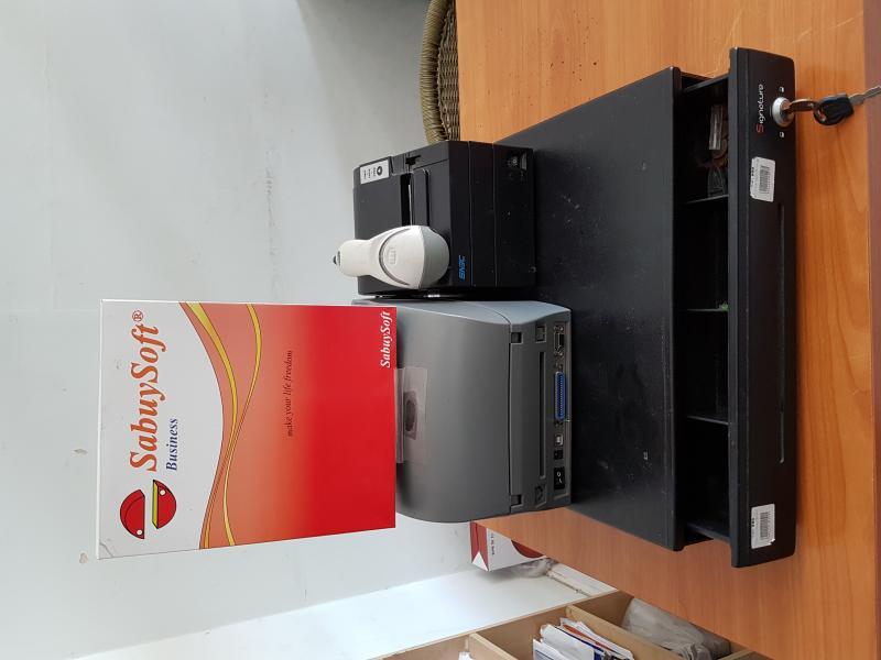 ขาย license SabuySofe option ครบทุกรายการ มีservice กับบริษัท ตลอดการใช้งาน  พร้อมอุปกรณ์ทั้งชุด มีเครื่องพิมพ์บาโค๊ด เครื่องพิมพ์ใบเสร็จ เครื่องอ่านบาโค๊ด ลิ้นชักเก็บเงิน ต้องการขายปิดกิจการ 30,000 บาท จาก 48,000 ขอบคุณครับ