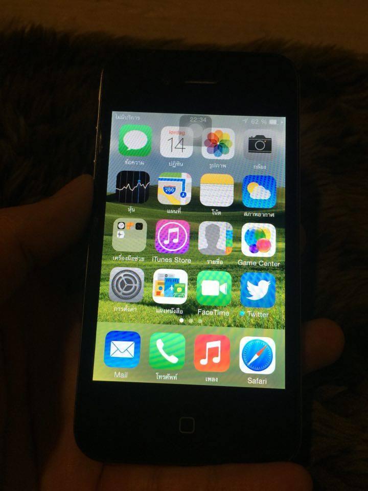 ขาย Iphone 4 .ใช้งานได้ปกติมีตำหนิข้างหลังเป็นลอยตามภาพ