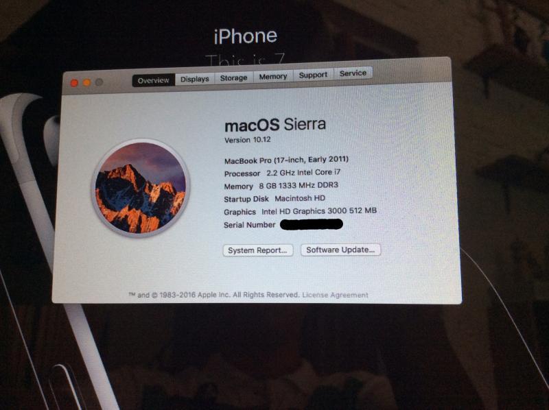 Macbook Pro 17 นิ้ว Early 2011