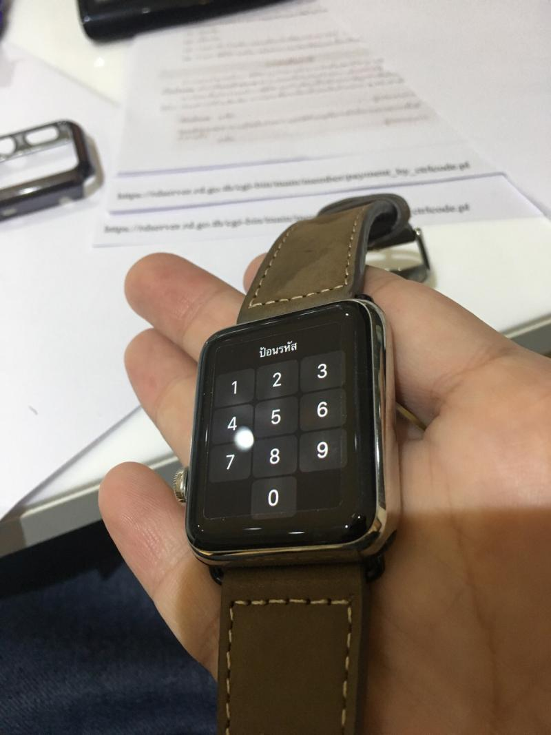 ขาย Apple Watch 42 mm (สีดำ) แตนเลสสตีล