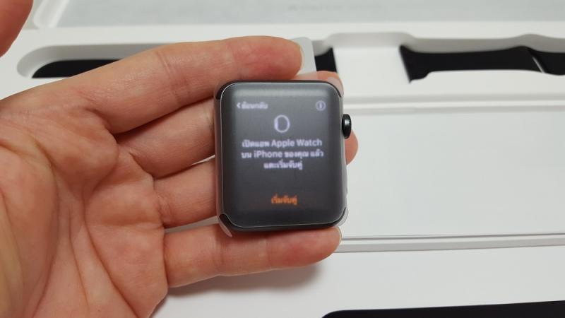 Apple Watch Sport 42 MM. BLACK ศูนย์ไทย เครื่องพึ่งได้เคลมเปลี่ยนเครื่องใหม่ ยังไม่ใช้งาน ยกกล่อง เพียง 7,990 บาท