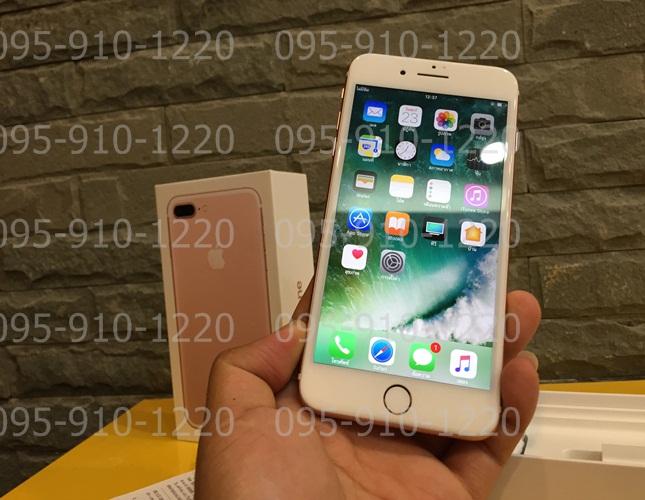 ขาย iphone 7 plus 128 Rose Gold อายุ8วัน อุปกรครบ ขาย31500