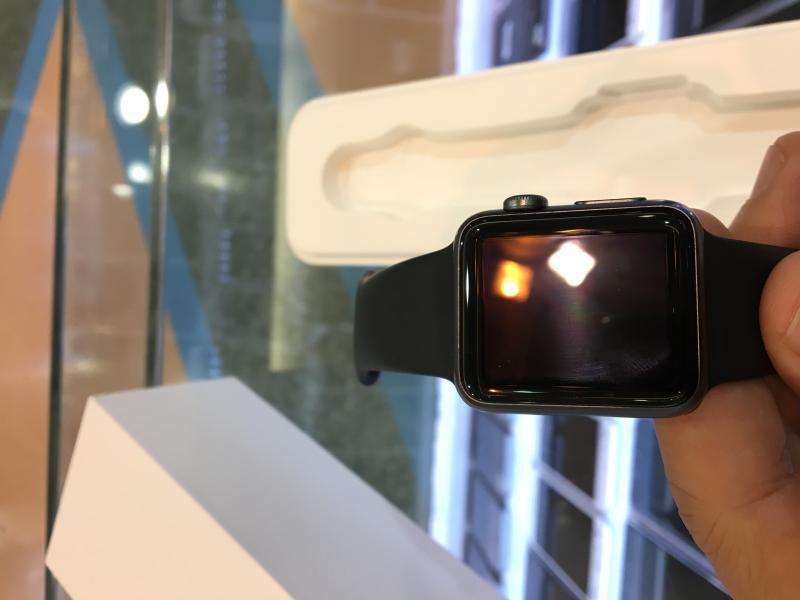 applewatch 38mm ตัวเรือนอลูมิเนียม สายSport สีดำ สภาพสวย