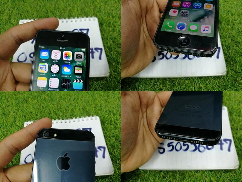 ขาย iPhone 5 สีดำ 16 GB มือ2 สภาพดี 4900 บาท ครับ