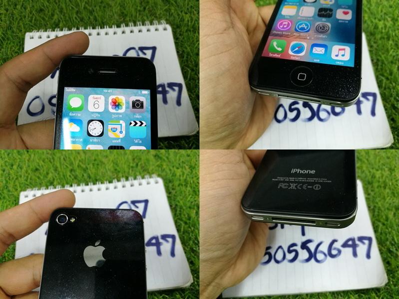 ขาย iPhone 4S สีดำ 16 GB มือ2 สภาพสวย 3000 บาท ครับ
