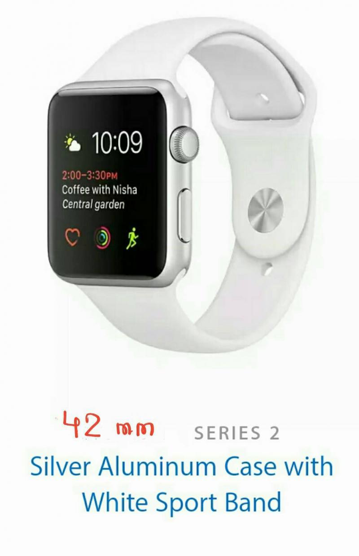 Apple Watch series 2 42mm มือ 1 กันน้ำ 50 เมตร GPS ในตัว (series 1 ทำไม่ได้) หน้าปัดสีเงินเข้ากับสายทุกสี