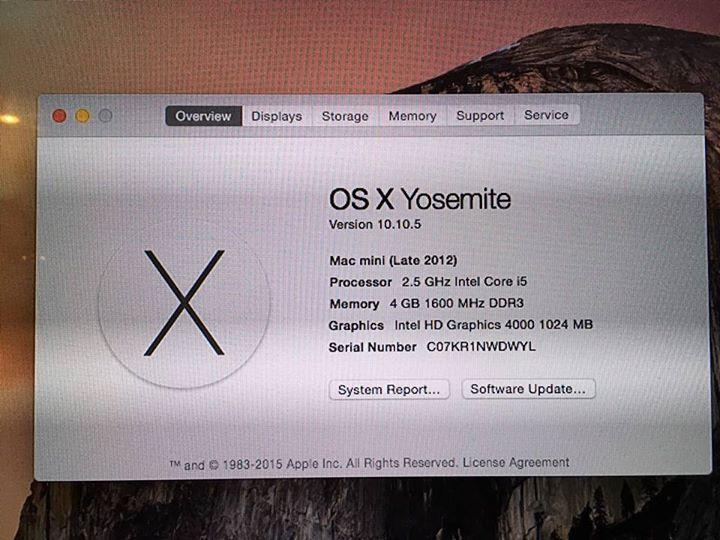 Mac mini late 2012 สภาพสวยมาก 98% กล่องอุปกรณ์ครบค่ะ