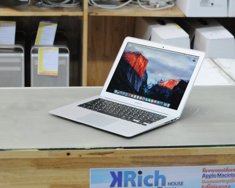 ขาย MacBook Air 13-inch Early2015 Core i5 1.6GB RAM 8GB SSD 256GB รุ่น TOP สภาพสวย อายุไม่ถึง 2 อาทิตย์ ประกันอีกยาว